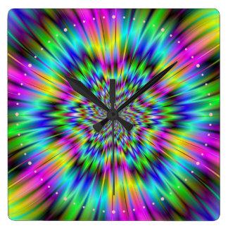 Rainbow Star Wall Clock