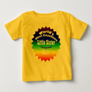 RAINBOW STAR ..World's Most Excellent Baby T-Shirt