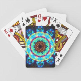Rainbow Stargate Mandala Playing Cards