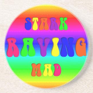 """Rainbow """"Stark Raving Mad"""" Drink Coasters"""