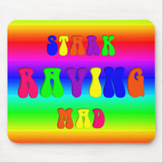 """Rainbow """"Stark Raving Mad"""" Mouse Pads"""