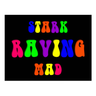 "Rainbow ""Stark Raving Mad"" Postcard"
