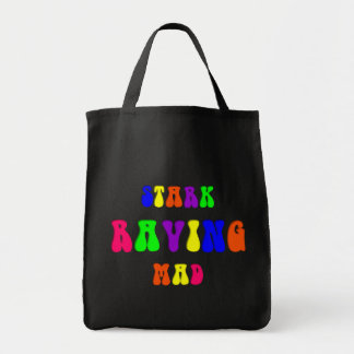 "Rainbow ""Stark Raving Mad"" Tote Bag"
