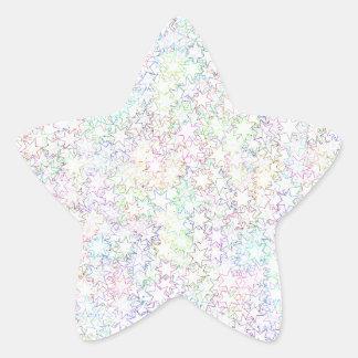 Rainbow Stars 12th Man Sports Lover & Cheerleader Star Sticker