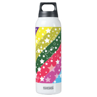 Rainbow Stars 16 Oz Insulated SIGG Thermos Water Bottle