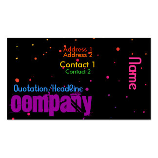 Rainbow Stars 1 Double-Sided Standard Business Cards (Pack Of 100)