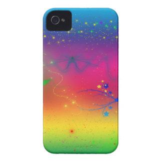 Rainbow Stars and Swirls Blackberry Bold Case