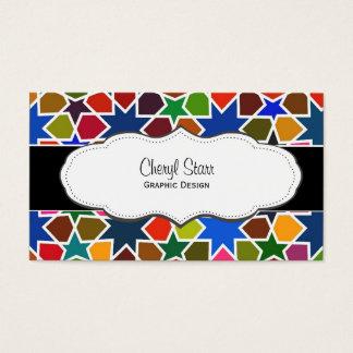Rainbow Stars Arty Business Cards