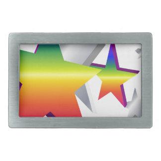 Rainbow Stars Belt Buckle