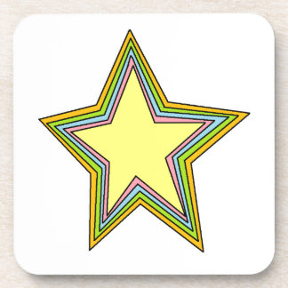 Rainbow Stars Beverage Coaster