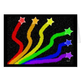 Rainbow Stars: Blank Note Card