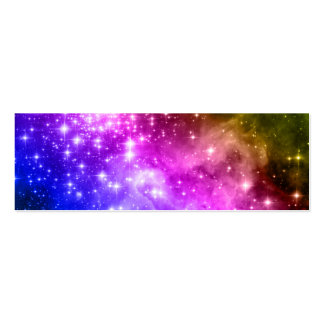 Rainbow Stars Double-Sided Mini Business Cards (Pack Of 20)