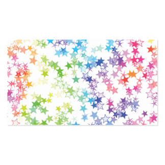 Rainbow Stars Double-Sided Standard Business Cards (Pack Of 100)