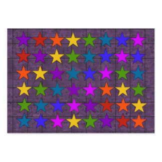 Rainbow Stars Large Business Cards (Pack Of 100)