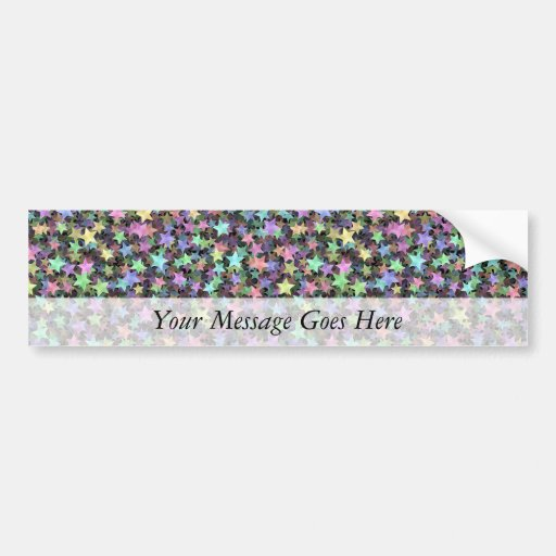 Rainbow Stars Car Bumper Sticker