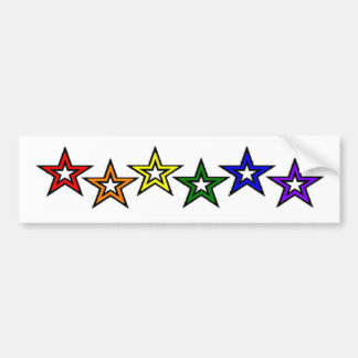 Rainbow Stars Gay Pride Bumper Sticker
