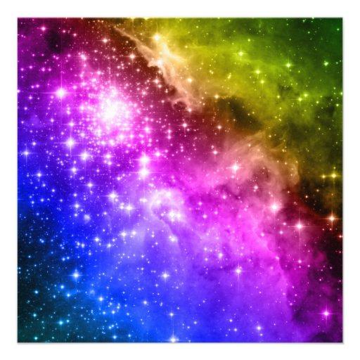 Rainbow Stars Invitations