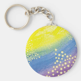 Rainbow & Stars Keychain