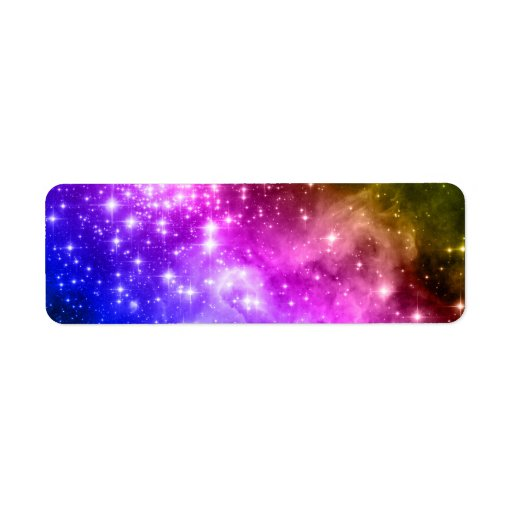Rainbow Stars Custom Return Address Label