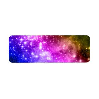 Rainbow Stars Label