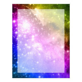 Rainbow Stars Letterhead