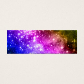 Rainbow Stars Mini Business Card
