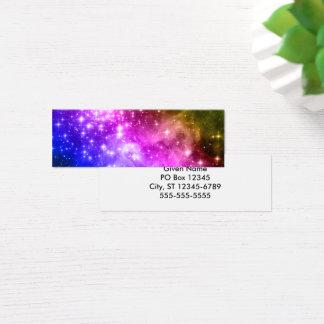 Rainbow Stars Mini Business Card