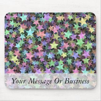 Rainbow Stars Mouse Pad