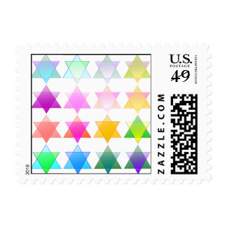 Rainbow Stars of David Stamp