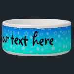 "Rainbow stars pattern bowl<br><div class=""desc"">Personalize your custom dog bowl</div>"
