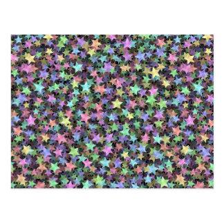 Rainbow Stars Post Cards