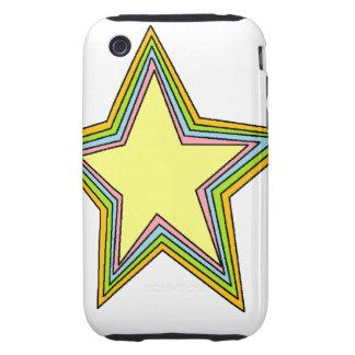 Rainbow Stars Tough iPhone 3 Case