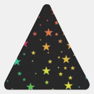Rainbow stars triangle sticker