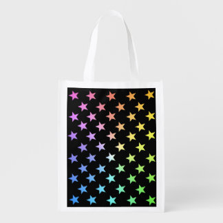 Rainbow Stars..with your own colors. Reusable Grocery Bag
