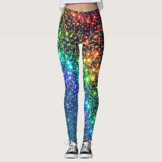 Rainbow Stars Yoga Pants