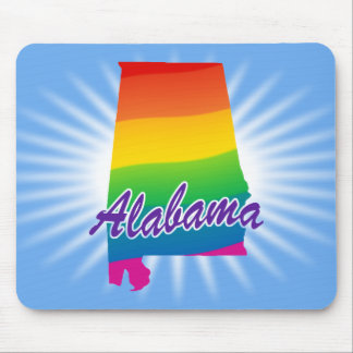 Rainbow State Of Alabama Mouse Pad