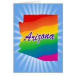 Rainbow State of Arizona Greeting Cards