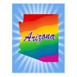 Rainbow State of Arizona Postcard