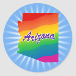 Rainbow State of Arizona Round Sticker