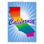 Rainbow State Of California Greeting Cards