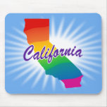 Rainbow State Of California Mouse Mats