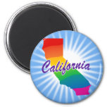Rainbow State Of California Refrigerator Magnet
