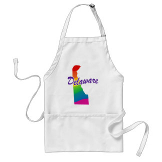 Rainbow State Of Delaware Adult Apron
