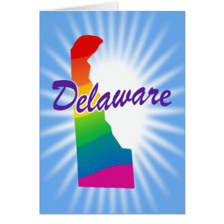 Rainbow State Of Delaware Card