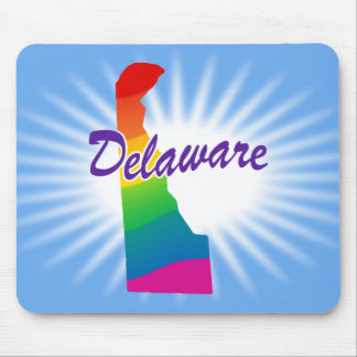 Rainbow State Of Delaware Mouse Pad