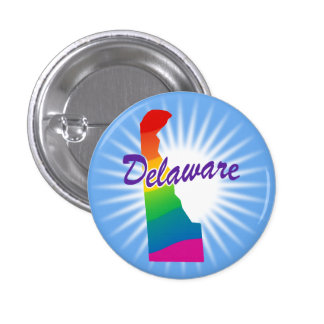 Rainbow State Of Delaware Pinback Button