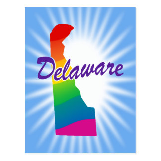 Rainbow State Of Delaware Postcard