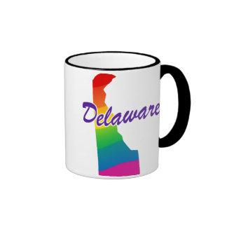 Rainbow State Of Delaware Ringer Mug
