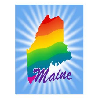 Rainbow State Of Maine Postcard
