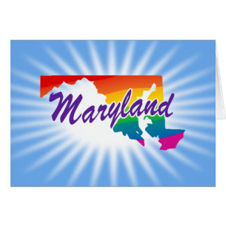Rainbow State Of Maryland Card
